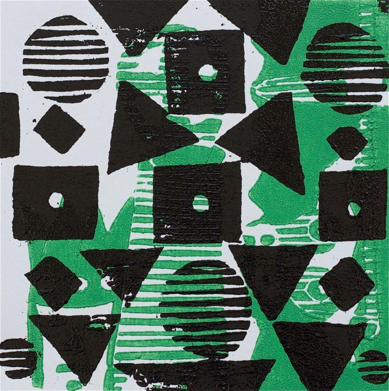 1 Kalevipoeg - 10,2 - Kuningaks Saamine : Künd (T.Laamann, 2013, woodcutprint, 10x10cm)