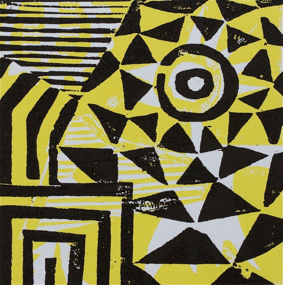 1 Kalevipoeg - 1,2 - Soovituseks (T.Laamann, 2013, woodcutprint, 10x10cm)