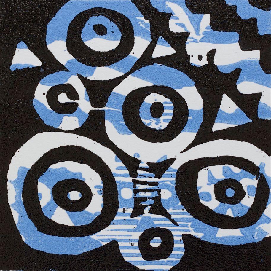 1 Kalevipoeg - 12,2 - Veevaimu Kuld (T.Laamann, 2013, woodcutprint, 10x10cm)