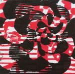 1 Kalevipoeg - 19,2 - Assamalla Lahing (T.Laamann, 2013, woodcutprint, 10x10cm)