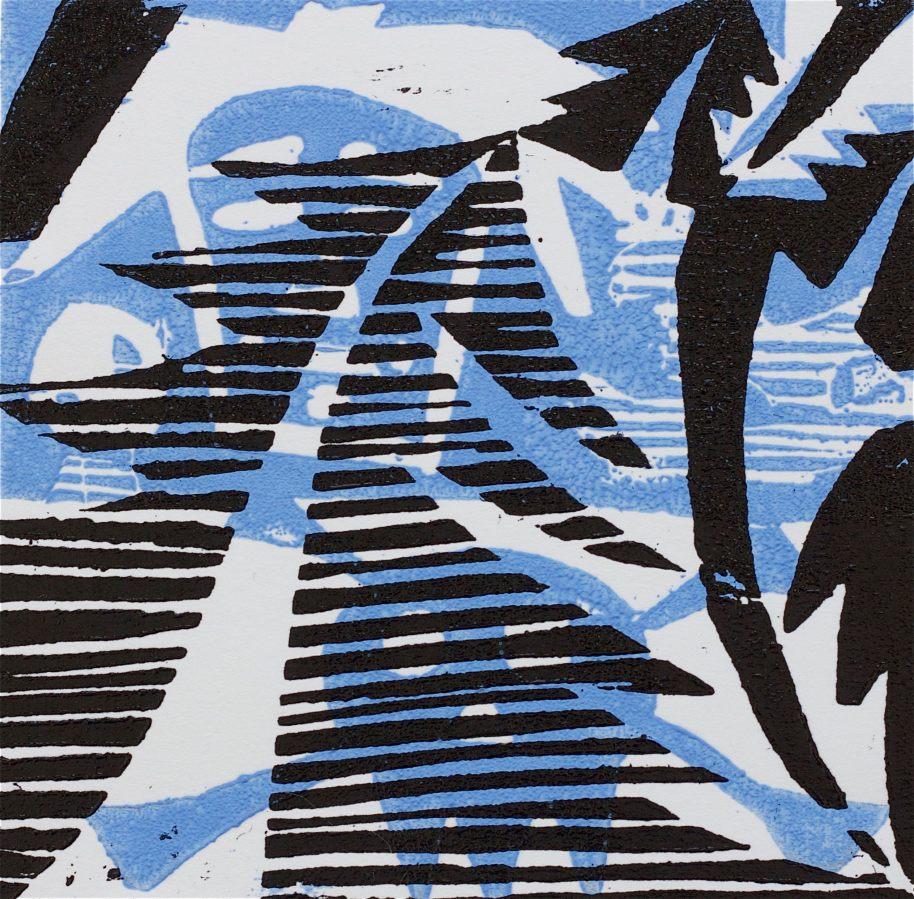 1 Kalevipoeg - 4,2 - Kalevi Surm (T.Laamann, 2013, woodcutprint, 10x10cm)