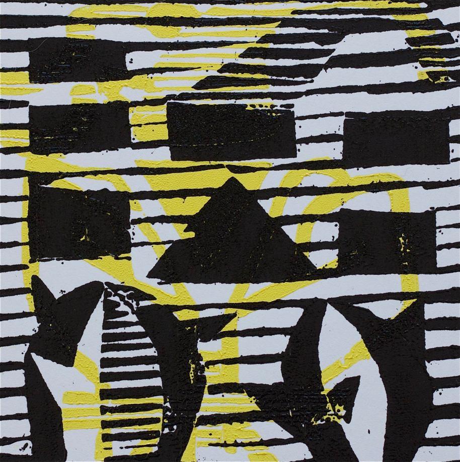 1 Kalevipoeg - 5,2 - Linda Röövimine ja Jaht (T.Laamann, 2013, woodcutprint, 10x10cm)