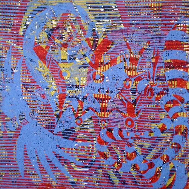 180 Blue (Tarrvi Laamann, 2013, woodcutprint, 40x40cm)