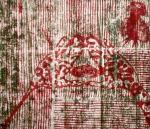 Jnana Yoga I (T.Laamann, 1992, woodcutprint, 43x53cm)