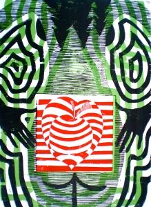 """Womans Spirit"" Tarrvi Laamann (2012, woodcutprint, 70x50cm)"