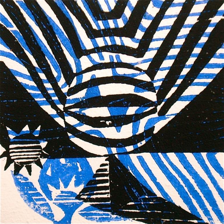 21.12.12 (2012, woodcutprint, 10x10cm), Tarrvi Laamann