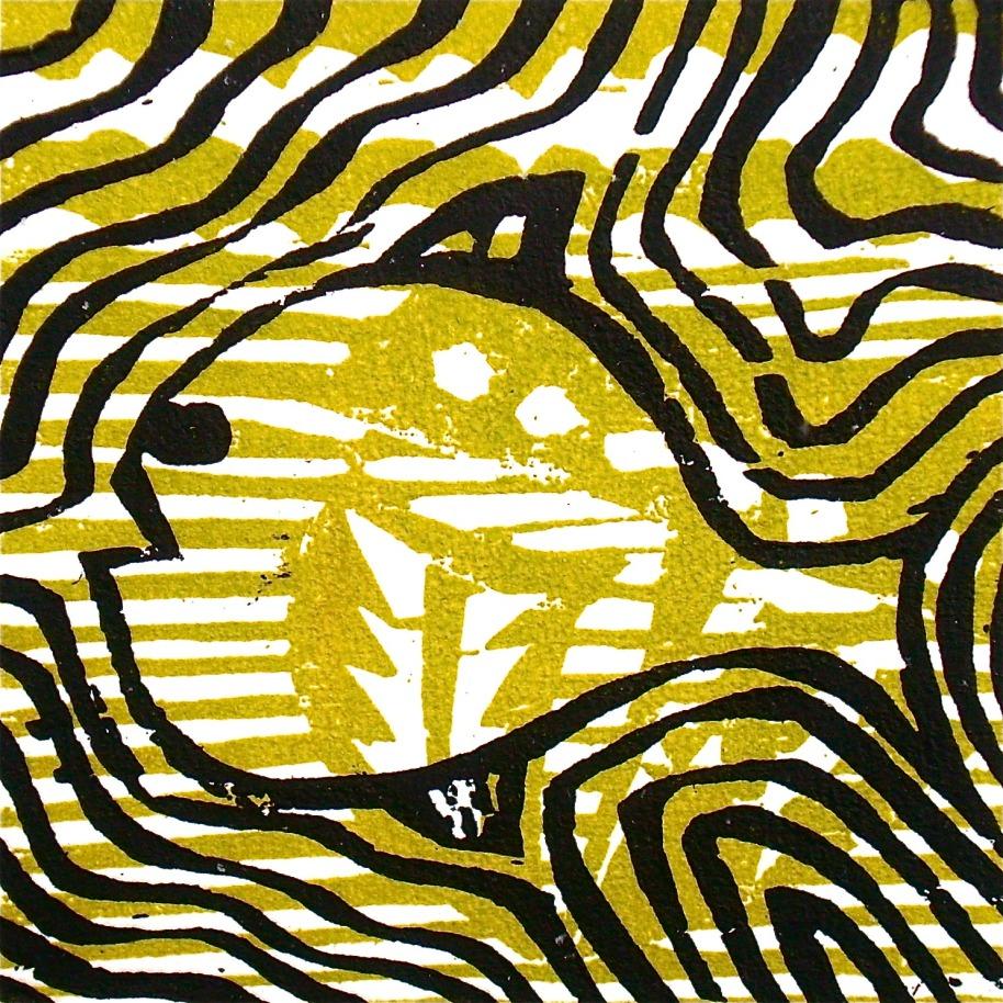 Kala (2012, woodcutprint, 10x10cm), Tarrvi Laamann