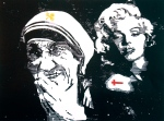 2012- Mama Marilyn (woodcutprint, 40x50cm)