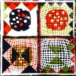 Muster 3 (2012, woodcutprint, 43x43cm), Tarrvi Laamann