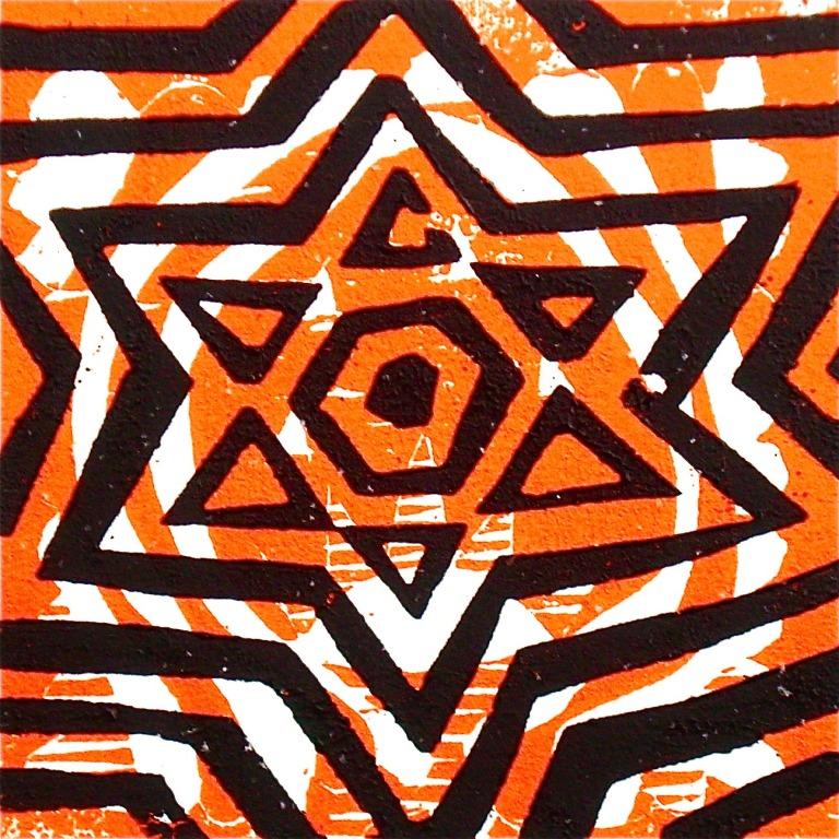 Täht (2012, woodcutprint, 10x10cm), Tarrvi Laamann