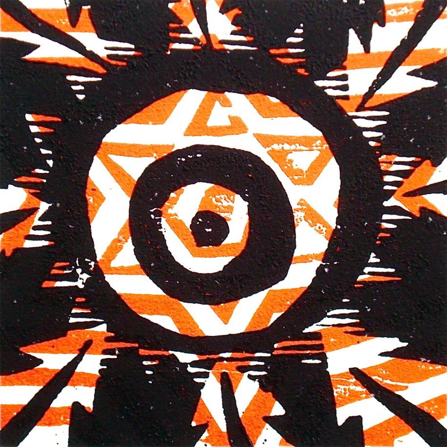 Tähtis (2012, woodcutprint, 10x10cm), Tarrvi Laamann