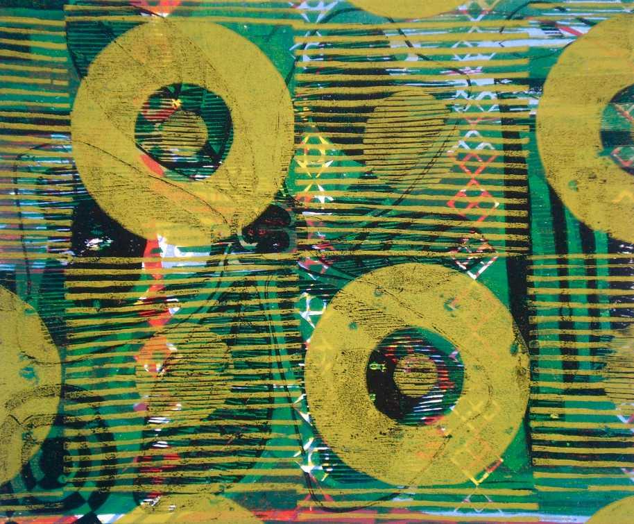 """Abstract Record Shop"" (T.Laamann, 2013, woodcutprint, 40x50cm)"