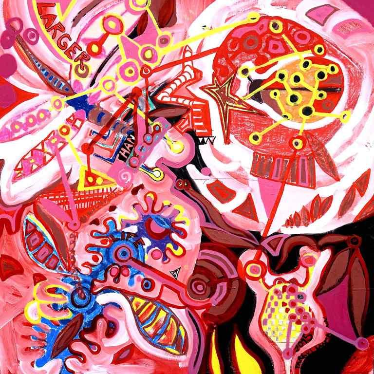 """Larger Than Life"" (Tarrvi Laamann, 2015, oil on canvas, 1500x1500mm)"