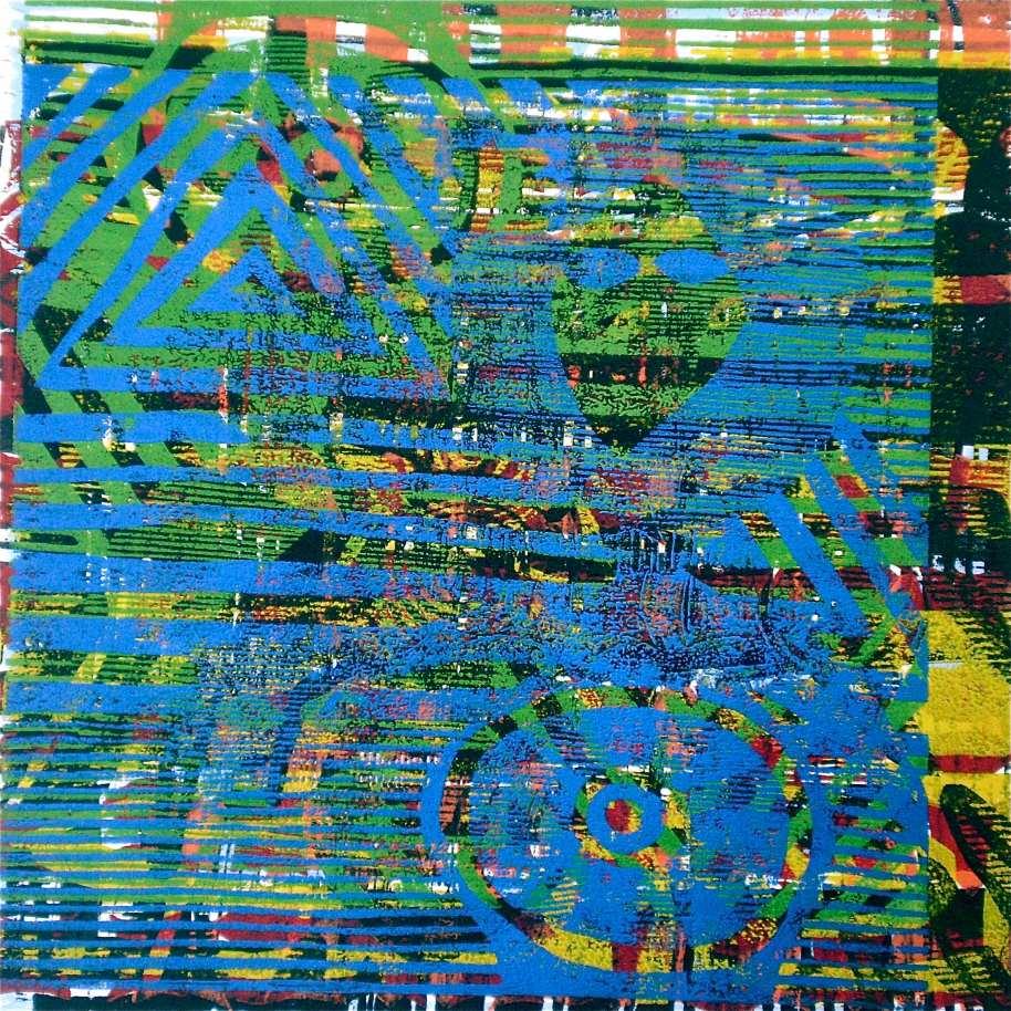 360 (Tarrvi Laamann, 2013, woodcutprint, 45x45cm)
