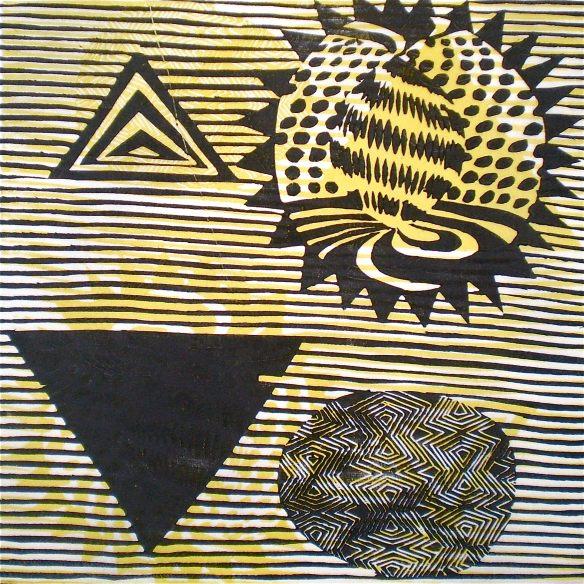 4D Start (Tarrvi Laamann, 2013, mokuhanga, 40x40cm)
