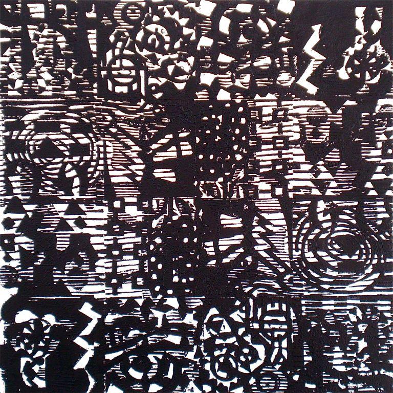 Abstract Pattern (T.Laamann, woodcutprint, 40x40cm, 2013)