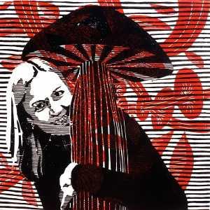 Anu & Seen (Tarrvi Laamann, 2014, woodcutprint, 40x40cm)
