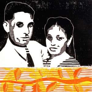 Birma Family (Tarrvi Laamann, 2014, woodcutprint, 40x40cm)