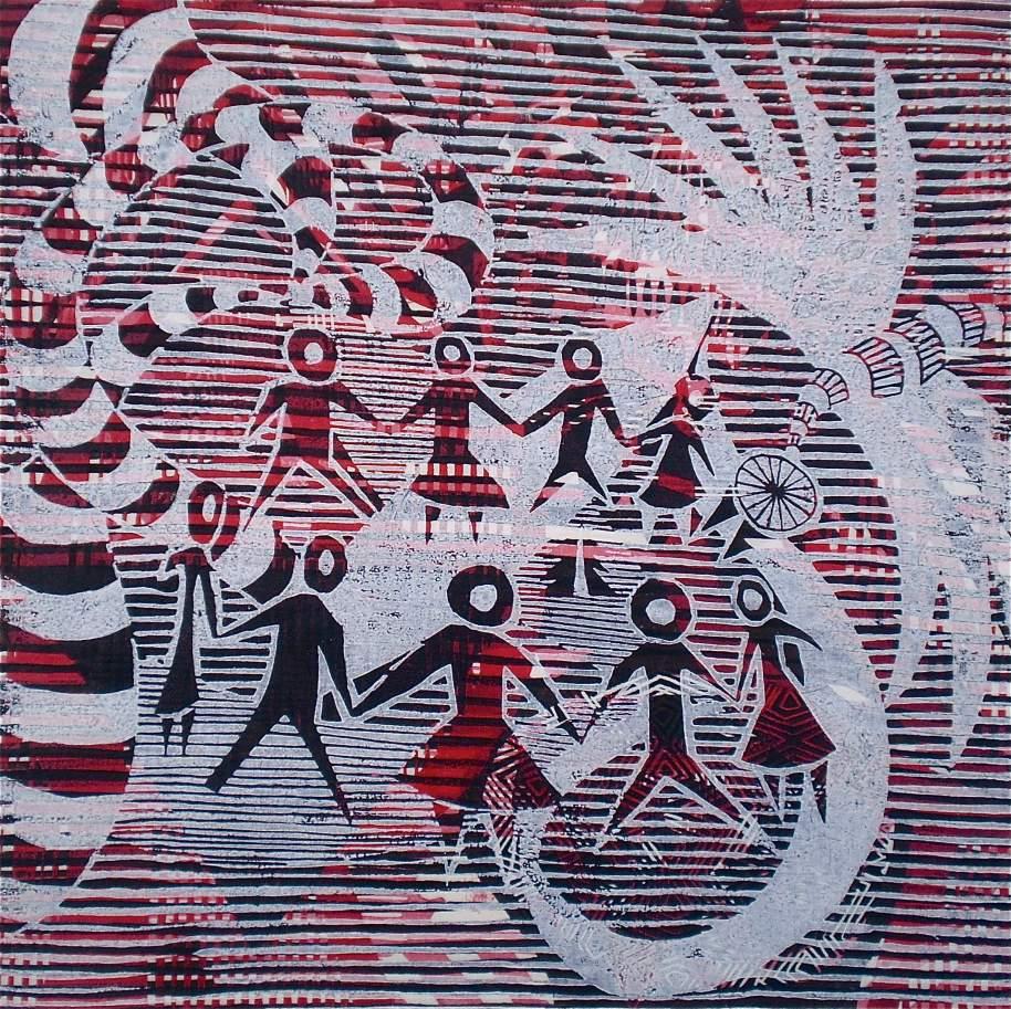 Matisse Red Tarrvism (Tarrvi Laamann, 2013, mokuhanga rmx, 40x40cm)