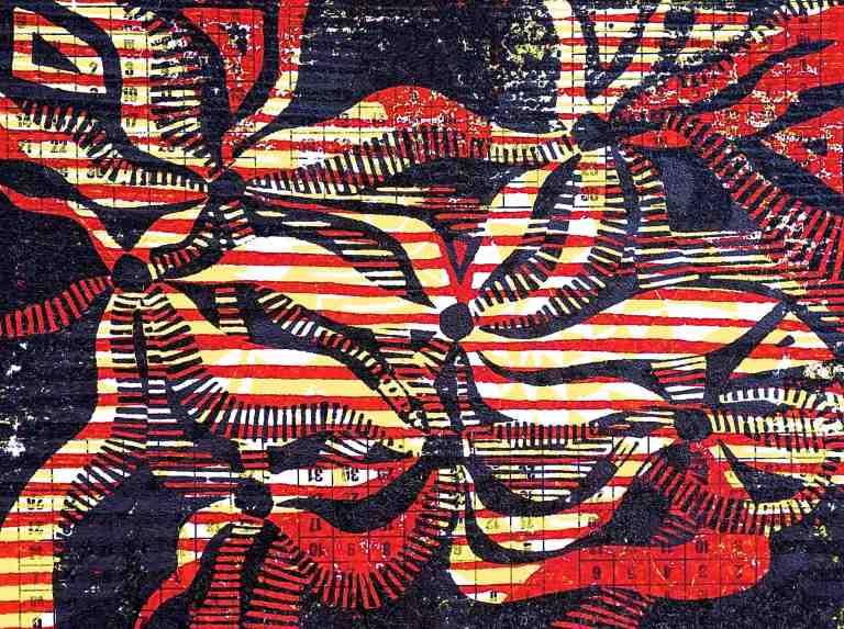 Smells (2015, Tarrvi Laamann, woodcut, 19x25cm)