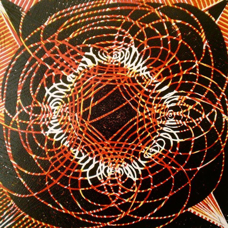 Sun-n-Sombrero (Tarrvi Laamann, 2013, linocutprint, 30x30cm)