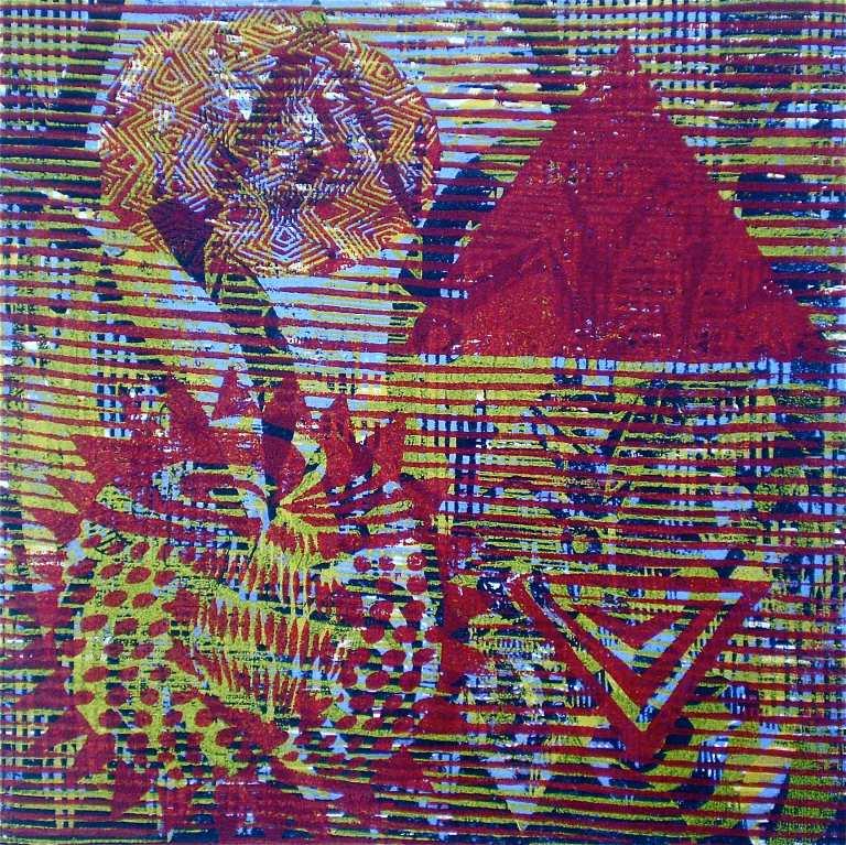 """180 R"" (Tarrvi Laamann, 2013, woodcutprint, 40x40cm)"