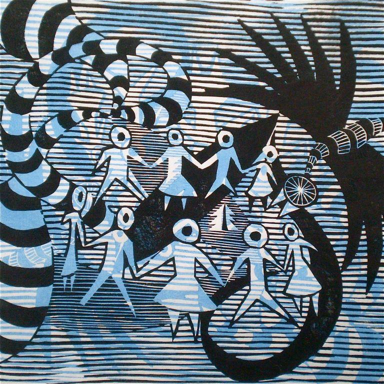Henri Matisse Tarrvism (T.Laamann, 2013, mokuhanga, 40x40cm)