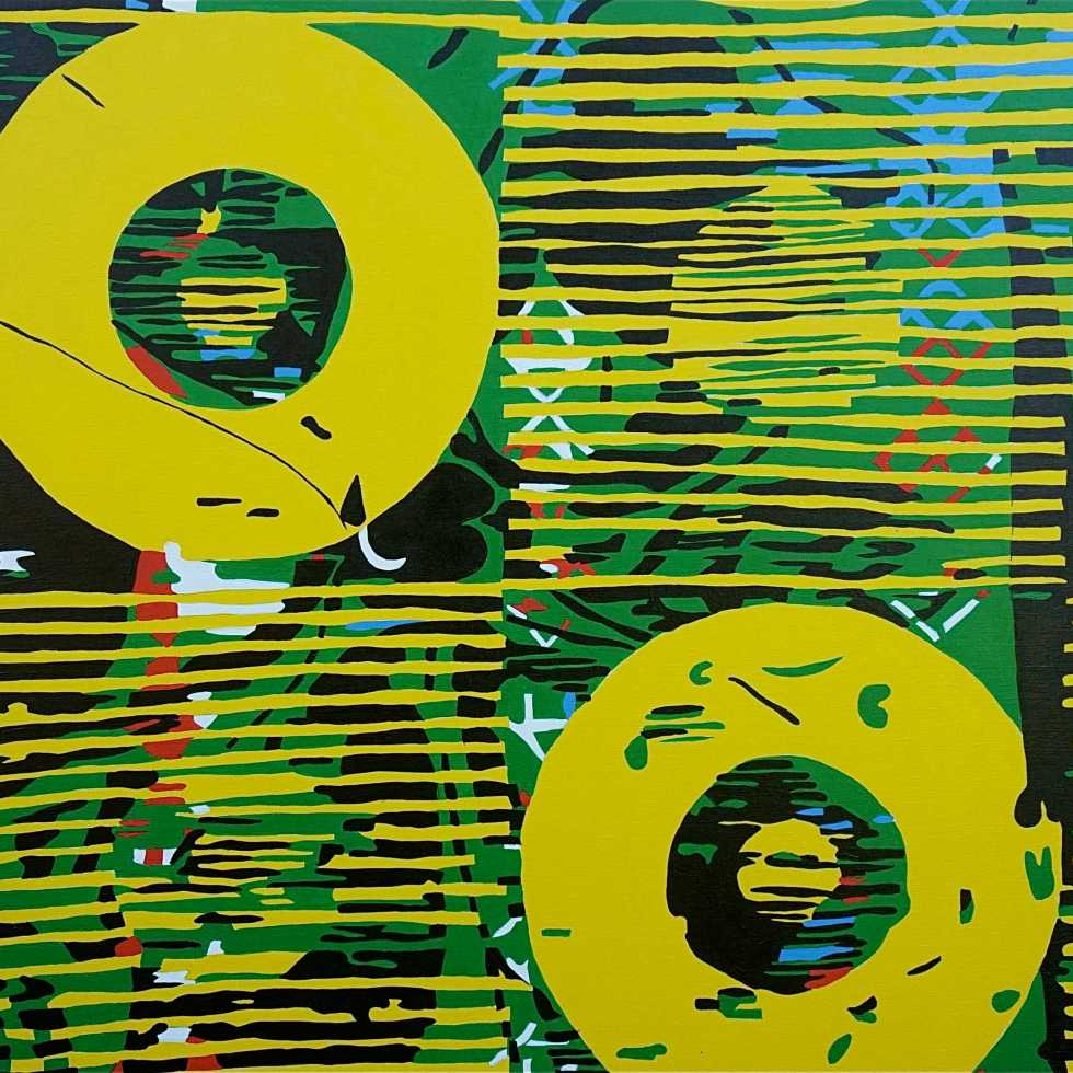 Abstract Disks III (Tarrvi Laamann, 2014, oil, canvas, 190x148cm)